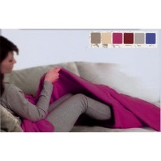 coperta scaldino divano tasca piedi microfibra plaid pile tinta