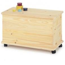 Cassapanca per esterno baule contenitore legno grezzo ...