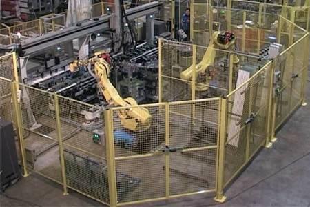 Cella robotizzata per montaggio box doccia gussago brescia