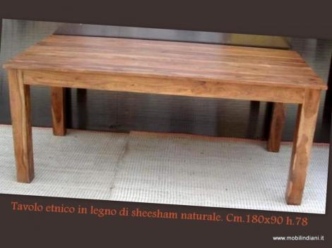 Tavolo etnico in legno di sheesham - Pessano con Bornago - Milano ...
