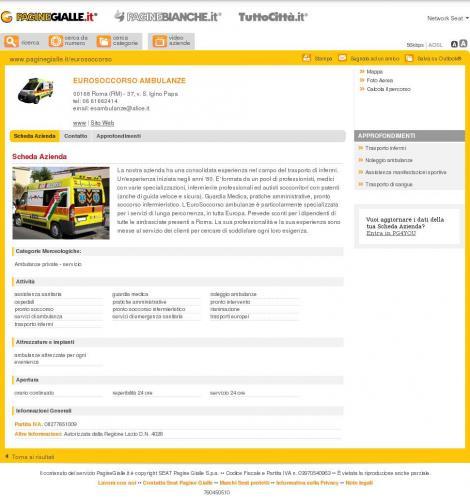 Ambulanze Euro Soccorso TEL. 0661662414
