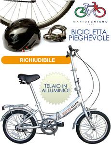 Bici Pieghevole In Alluminio.Bicicletta Bici Pieghevole 16 Telaio In Alluminio By Mario Schiano