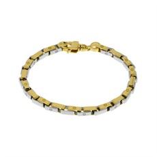 fashion design caldo-vendita colore veloce bracciale uomo in oro 18k maglie con viti incise - catena ...