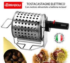 TOSTACASTAGNE ELETTRICO A BATTERIA TOSTA CUOCI CASTAGNE CALDARROSTE ...