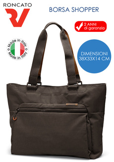 TRACOLLA BORSA SHOPPER DA DONNA LINEA LIFE RV RONCATO MADE