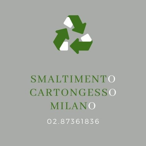 Smaltimento cartongesso Milano