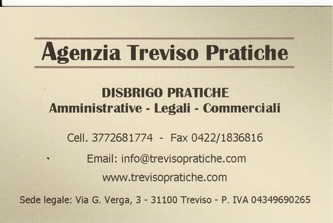 AGENZIA TREVISO PRATICHE DI VINCENZA LO PERFIDO