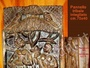 Pannello indiano in legno intagliato